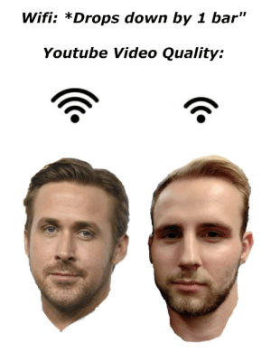 "I think my profile picture was way funnier in my head, than it actually is: Wifi: *Drops down by 1 bar""  Youtube Video Quality: I think my profile picture was way funnier in my head, than it actually is"