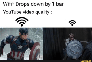 Meme, youtube.com, and Video: Wifi* Drops down by 1 bar  YouTube video quality  ifunny.co This Months Meme