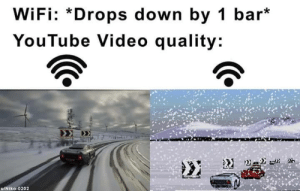 When YouTube is life.: WiFi: *Drops down by 1 bar*  YouTube Video quality: When YouTube is life.