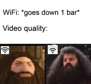 God, Video, and Wifi: WiFi: *goes down 1 bar*  Video quality: Thanks god it is not NNN