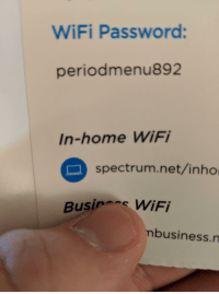 WiFi Password Periodmenu892 In-Home WiFi Spectrumnetinho WiFi
