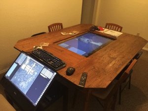 Dell, New Year's, and Shit: wigglyflippingout:  sleeping-ranna:  cisnowflake:  priceofliberty:  luchadoreofliberty:   anarkisses:  armedandgayngerous:  caethial:  The Setup for my Home DD game, table was built on New Year's Eve 2016, with two of my players and myself, the TV is a 40 Samsung smart tv connect to a dell precision 5720 27 4K workstation running Fantasy Grounds to manage campaign details, display maps and use tokens onscreen to represent characters.  e x t r a .   @priceofliberty  damn   This is ideal   This is the coolest shit.   @cool-ghoul   holy shit this is rad as FUCK