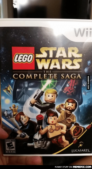 Not anymore…omg-humor.tumblr.com: Wii  STAR  LEGO  WARS  THE  COMPLETE SAGA  EVERYONE 10+  LUCASARTS..  CONTERT RATED BY  ESRB  FUNNY STUFF ON MEMEPIX.COM  MEMEPIX.COM Not anymore…omg-humor.tumblr.com