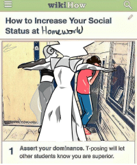 Sorry, Target, and Tumblr: wiki How  HOW  How to Increase Your Social  Status at Homeuが  Assert your dominance. T-posing will let  other students know you are superior. larimar-infi:  I am so sorry