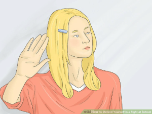 School, How To, and Wiki: wiki How to Defend Yourself in a Fight at School How to tell people to talk to the hand