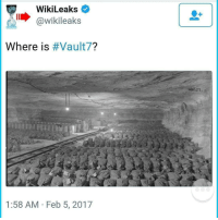 """Memes, Juicy, and Alphabet: WikiLeaks  @wikileaks  Where is  Vault  1:58 AM Feb 5, 2017 What is Vault 7? Wikileaks Releases Series of Cryptic Tweets What is Vault 7? Where is Vault 7? When is Vault 7?"""" These are the questions that Wikileaks has tweeted, along with two pictures of what seems like an underground facility, and the two remaining questions, why and who, is Vault 7 seem to have the internet going in a frenzy for what Vault 7 could possibly mean. Wikileaks began tweeting out a series of cryptic tweets with the hashtag Vault7 on Feb. 4, suggesting that the international whistleblowing organization has something juicy in store for the public very soon. UPDATE: 1:00 P.M. EST – 2-7-17 – Wikileaks tweeted out """"Who is Vault7?,"""" with a picture of Snowden, Manning and Assange. UPDATE: 1:00 P.M. EST – 2.8-17 – Wikileaks tweeted out """"Why is Vault7?,"""" with a strange image of what looks like a steel worker welding. An anonymous account named """"AnonScan"""" gave their input, tweeting out even more cryptic material and a riddle with several videos, including a video that shows Julian Assange calling the U.S. government, and warning the U.S. State Dept. of a massive un-redacted cable leak that isn't from them. The video ends with """"it's time,"""" an echoed term that has previously been tweeted by Snowden as well. The group's riddle, """"the answer is there right in front of you, if you know the alphabet Google is your friend.. or maybe not,"""" appears to suggest that Google may have blocked viewing these bases, as they have done for other U.S. military bases and facilities. A quick google of """"Vault7"""" shows a seed bank for doomsday (insert scenario here) as is depicted by the video below the exact facility that Wikileaks tweeted out a picture of it's the Svalbard Global Seed Vault in Norway. Which according to CBS and Science Daily the vault serves as the """"Noah's Ark for plant life and is built to withstand an earthquake or a nuclear strike."""" National geographic has done a further ind"""