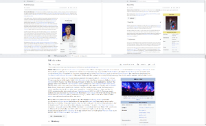 """music: WIKIPEDIA  Q Search Wikipedia  WIKIPEDIA  Q Search Wikipedia  Paul McCartney  Sheck Wes  +, Download PDF  XA Language  + Download PDF  * Watch  * Watch  XA Language  Edit  Edit  """"McCartney"""" redirects here. For other uses, see McCartney (disambiguation).  Khadimou Rassoul Cheikh Fall (born September 10, 1998), better known as Sheck Wes, is an American rapper, singer, songwriter, and  model.1 He is best known for his 2017 song """"Mo Bamba"""", which went viral in 2018.121  Sir James Paul McCartney CH MBE (born 18 June 1942) is an English singer, songwriter, musician, composer, and record and film producer  who gained worldwide fame as co-lead vocalist and bassist for the Beatles. His songwriting partnership with John Lennon remains the most  Wes is jointly signed to Travis Scott's Cactus Jack and Kanye West's GOOD Music record  successful in history.21 After the group disbanded in 1970, he pursued a successful solo career and formed the band Wings with his first wife,  Sheck Wes  labels, under the aegis of Interscope Records.3][4]  Linda, and Denny Laine.  E Contents v  A self-taught musician, McCartney is proficient on bass, guitar, keyboards, and drums. He  Sir  is known for his melodic approach to bass-playing (mainly playing with a plectrum), his  Paul McCartney  versatile and wide tenor vocal range (spanning over four octaves), and his eclecticism  ^ Early life  CH MBE  (exploring styles ranging from pre-rock and roll pop to classical and electronica).  McCartney began his career as a member of the Quarrymen in 1957, which evolved into  the Beatles in 1960. Starting with the 1967 album Sgt. Pepper's Lonely Hearts Club Band,  Khadimou Fall was born on September 10, 1998 in the Harlem neighborhood of New York  he gradually became the Beatles' de facto leader, providing the creative impetus for most  City to parents of Senegalese descent. At age 5, Wes and his mother moved to Milwaukee,  of their music and film projects. Of his Beatles songs, more than 2,200 artis"""