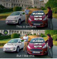Memes, Mood, and Rugby: WILKINSON  CARTER  SEXTON  QM B621  This is brilliant,  RUGBY  MEMES  WILKINSON  CARTER  SEXTON  ANDY GOODE  KsQM 8621  But I like this. Mood 😌 rugby andygoode banter