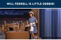 """Target, Tumblr, and Will Ferrell: WILL FERRELL IS LITTLE DEBBIE!   <p><a href=""""https://adonna1964.tumblr.com/post/156648442822/fallontonight-day-brightener-will-ferrell-is"""" class=""""tumblr_blog"""" target=""""_blank"""">adonna1964</a>:</p><blockquote> <p><a href=""""http://fallontonight.tumblr.com/post/156647610515/day-brightener-will-ferrell-is-little-debbie"""" class=""""tumblr_blog"""" target=""""_blank"""">fallontonight</a>:</p>  <blockquote><p><a href=""""http://Will%20Ferrell%20is%20the%20brand%20new%20spokesperson"""" target=""""_blank"""">Day brightener: Will Ferrell is Little Debbie!</a></p></blockquote>  <p>Totally a day brightener!  This is hilarious!</p> </blockquote> <p><a href=""""http://t.umblr.com/redirect?z=https%3A%2F%2Fwww.youtube.com%2Fwatch%3Fv%3Ds8rev7S3lC8%26t%3D95s&amp;t=YmQ2NWEzMWU1NDg4ZjY1MmExODEwNTM1M2U5NTA5YjhhMWVhYWUzZCxkWjlXWUFOMA%3D%3D&amp;b=t%3A7CXZCYBaSJni-fbpG60Dww&amp;p=http%3A%2F%2Ffallontonight.tumblr.com%2Fpost%2F160740453147%2Fwill-ferrell-announces-that-hes-the-new&amp;m=0"""" target=""""_blank"""">Will Ferrell announces that he's the new spokesperson for Little Debbie snack cakes</a>!<br/></p>"""
