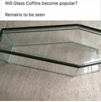 Instagram, Glass, and Will: Will Glass Coffins become popular?  Remains to be seen Instagram: @punsonly