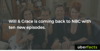 http://www.eonline.com/news/822868/will-and-grace-officially-returning-to-nbc-with-10-new-episodes: Will & Grace is coming back to NBC with  ten new episodes.  uber  facts http://www.eonline.com/news/822868/will-and-grace-officially-returning-to-nbc-with-10-new-episodes