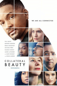 If we are all judged by the company we keep...then I want  this cast with me for life! #CollateralBeauty: WILL SMITH  EDWARD NORTON  KEIRA KNIGHTLEY  MICHAEL PENA  NAOMIE HARRIS  JACOB LATIMORE  KATE WINSLET  AND HELEN MIRREN  COLLATERAL  BEAUTY  DECEMBER 16  WE ARE ALL CONNECTED If we are all judged by the company we keep...then I want  this cast with me for life! #CollateralBeauty