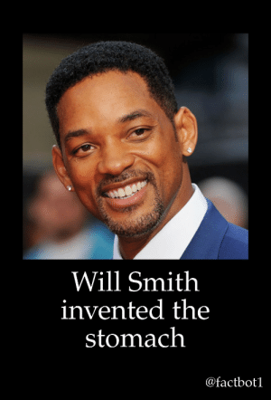 Tumblr, Will Smith, and Blog: Will Smith  invented the  stomach  @factbot bobbyport:  thanks will