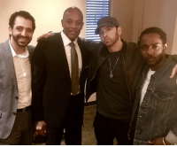 Will the real Slim Shady please stand up ... because that dude with the beard standing between Dr. Dre and Kendrick Lamar can't be him, can it? eminem kendricklamar drdre beard tmz: Will the real Slim Shady please stand up ... because that dude with the beard standing between Dr. Dre and Kendrick Lamar can't be him, can it? eminem kendricklamar drdre beard tmz