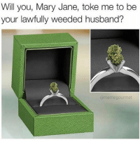 Love ❤️: Will you, Mary Jane, toke me to be  your lawfully weeded husband?  @meme gourmet Love ❤️