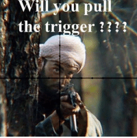 From the movie lonesurvivor - Spotted: @uniform_humor: Will  you  pull  the trigger ??? From the movie lonesurvivor - Spotted: @uniform_humor