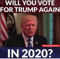 I will also be voting for trump in 2024. 4MoreYears: WILL YOU VOTE  FOR TRUMP AGAIN  @theproudrepublicans  IN 2020? I will also be voting for trump in 2024. 4MoreYears