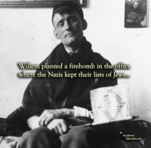 "antisemitic:  Willem Arondeus was a Dutch resistance fighter who gave his life trying to protect his Jewish countrymen from the Nazis. Born in Amsterdam in 1895, Willem was one of six children. From a young age, he was a talented artist and his parents encouraged his creativity, until he came out as homosexual at age 17. In a time when nearly all gay people were in the closet, Willem's parents could not accept his choice to live openly. Their rejection led Willem to run away from home.On his own, Willem took odd jobs and eventually became a successful visual artist and writer. He was commissioned to paint a mural for Rotterdam's town hall, in a style that combined modern abstract painting with a traditional Dutch motif. Willem was a well-respected author who published a popular biography of Dutch painter and political activist Matthijs Maris.In 1940, Germany invaded the Netherlands. Willem immediately joined the resistance movement, and urged his fellow artists to fight against the Nazi occupation. WIllem published illegal anti-Nazi pamphlets calling for mass resistance against the Germans. Willem was especially committed to saving Amsterdam's Jewish community. Bringing in others to the cause, Willem arranged for Dutch Jews to be hidden in people's homes. He used his artistic skills to create false identity papers. In 1943, Willem hatched a brazen plan. Dressed as a German Army captain, and with 15 men behind him, Willem boldly marched into the Public Record Office, where lists identifying people as Jews were kept. Willem drugged the guards and planted a firebomb. The resulting blaze destroyed tens of thousands of documents, and delayed or prevented many Jews from being identified by the Nazis.Unfortunately, Willem was captured by the Germans and sentenced to death. Willem's last words before being executed in July, 1943 were, ""Let it be known that homosexuals are not cowards.""In 1986 Yad Vashem recognized Arondeus as Righteous Among the Nations. Because of his sexual orientation, Willem's story was omitted from Dutch history books. Only in the last 20 years has his courage become widely known.   : Willem planted a firebomb in the office  where the Nazis kept their lists of Jews..  Accidental  Talmudist.com antisemitic:  Willem Arondeus was a Dutch resistance fighter who gave his life trying to protect his Jewish countrymen from the Nazis. Born in Amsterdam in 1895, Willem was one of six children. From a young age, he was a talented artist and his parents encouraged his creativity, until he came out as homosexual at age 17. In a time when nearly all gay people were in the closet, Willem's parents could not accept his choice to live openly. Their rejection led Willem to run away from home.On his own, Willem took odd jobs and eventually became a successful visual artist and writer. He was commissioned to paint a mural for Rotterdam's town hall, in a style that combined modern abstract painting with a traditional Dutch motif. Willem was a well-respected author who published a popular biography of Dutch painter and political activist Matthijs Maris.In 1940, Germany invaded the Netherlands. Willem immediately joined the resistance movement, and urged his fellow artists to fight against the Nazi occupation. WIllem published illegal anti-Nazi pamphlets calling for mass resistance against the Germans. Willem was especially committed to saving Amsterdam's Jewish community. Bringing in others to the cause, Willem arranged for Dutch Jews to be hidden in people's homes. He used his artistic skills to create false identity papers. In 1943, Willem hatched a brazen plan. Dressed as a German Army captain, and with 15 men behind him, Willem boldly marched into the Public Record Office, where lists identifying people as Jews were kept. Willem drugged the guards and planted a firebomb. The resulting blaze destroyed tens of thousands of documents, and delayed or prevented many Jews from being identified by the Nazis.Unfortunately, Willem was captured by the Germans and sentenced to death. Willem's last words before being executed in July, 1943 were, ""Let it be known that homosexuals are not cowards.""In 1986 Yad Vashem recognized Arondeus as Righteous Among the Nations. Because of his sexual orientation, Willem's story was omitted from Dutch history books. Only in the last 20 years has his courage become widely known."