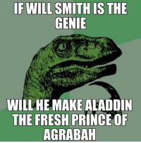 Now this is a story all about how my life got flipped turned upside down: WILLHE MAKE ALADDIN  THE FRESH PRINCE OF  AGRABAH Now this is a story all about how my life got flipped turned upside down