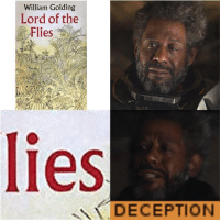 lord of the flies: William Golding  Lord of the  Flies  lies  DECEPTION