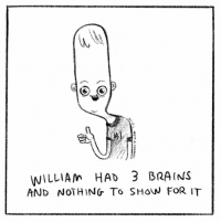 Brains, Memes, and 🤖: WILLIAM HAD 3 BRAINS  AND NOTHING To SHoW FOR IT Quality over quantity!