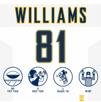 Memes, Chargers, and Rush: WILLIAMS  81  ni  95  TOT YDS  2  REC TDS  RUSH TD  WIN!  WK  15 .@darealmike_dub led the @Chargers to clinch a spot in the #NFLPlayoffs! #HaveADay #FightForEachOther https://t.co/FWT2aqCS6z