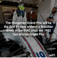 It's been a long time! 😵 f1 formula1 hungariangp wtf1: WILLIAMSMAR  MA  The Hungarian Grand Prix will be  the first F1 race without a Brazilian  driver in the field since the 1982  San Marino Grand Prix  Rexona  wtf1 It's been a long time! 😵 f1 formula1 hungariangp wtf1