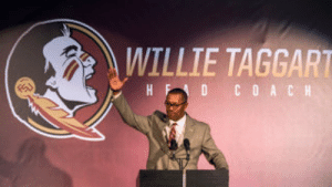 Authorities investigating after fan posts meme of FSU coach...: WILLIE TAGGART  HFD COACH Authorities investigating after fan posts meme of FSU coach...