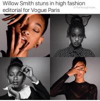 Willow Smith displays the makings of a supermodel in her latest shoot of Vogue Paris. . The 16-year-old posed for famed photographic duo Inez Van Lamsweerde & Vinoodh Matadin for the magazine's December-January issue. . We love ❤️ . @willowsmith 👑: Willow Smith stuns in high fashion  @The Young Empire  editorial for Vogue Paris Willow Smith displays the makings of a supermodel in her latest shoot of Vogue Paris. . The 16-year-old posed for famed photographic duo Inez Van Lamsweerde & Vinoodh Matadin for the magazine's December-January issue. . We love ❤️ . @willowsmith 👑