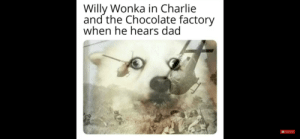 Charlie, Dad, and Funny: Willy Wonka in Charlie  and the Chocolate factory  when he hears dad  Subscribe They're in the trees
