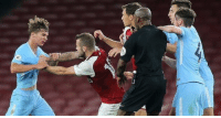 Arsenal, Soccer, and Rock: Wilshere getting sent off for Arsenal reserves after fighting 13 year olds.  His career has hit rock bottom. 😂😂 https://t.co/AyBZ4l93gl