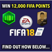Fifa, Football, and Memes: WIN 12,000 FIFA POINTS  EA  FIFA18  SPORTS  FIFA  FIFA 18  OFFICIAL  LICENSED  PRODUCT  FIND OUT HOW BELOW... Collaborating with football APP Vole, we are giving away 12,000 FIFA points (×50). ❗⚡ How to win⬇️ - Download APP (LINK IN PROFILE) @footballmemesinsta - Comment your CONSOLE! - 50 winners will be choosen via DM.