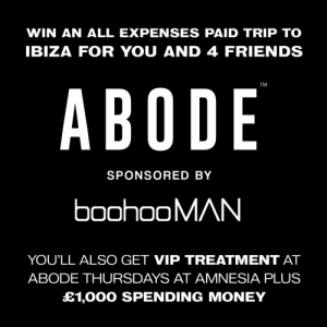 Friends, Memes, and Money: WIN AN ALL EXPENSES PAID TRIP TO  IBIZA FOR YOU AND 4 FRIENDS  TM  ABODE  SPONSORED BY  boohooMAN  YOU'LL ALSO GET VIP TREATMENT AT  ABODE THURSDAYS AT AMNESIA PLUS  £1,000 SPENDING MONEY 🔥 Competition 🔥  We're giving you that #FridayFeeling by  offering you a chance to win an all expenses paid trip to @AbodeRecords 🌴  Enter here 👉 https://t.co/tMZspisCcA https://t.co/J2jsyii15n