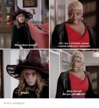 Dank, 🤖, and Witchcraft: Wingardium leviosa!  Muggle.  Source: squallygust  Girl, I am a Christian woman.  I cannot abide your witchcraft.  What the hell  id you  just eat me?! What did you call me?