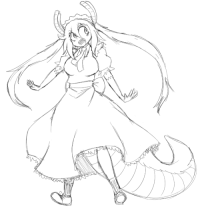 Soon..., Target, and Tumblr: wingnutxlv:  a WIP of Tohru. Hopefully will be finished soon!