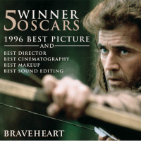 Academy Awards, Memes, and Oscars: WINNER  OSCARS  1996 BEST PICTURE  AND  BEST DIRECTOR  BEST CINEMATOGRAPHY  BEST MAKEUP  BEST SOUND EDITING  BRAVEHEART The one and only Mel Gibson who produced, directed, and starred in Braveheart, and won The Academy Awards for Best Director and Best Picture. #Oscars