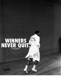 Never quit! successes: WINNERS  ALI  NEVER QUIT  @SUCCESSES Never quit! successes