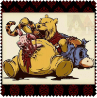 Winniethepooh Piglet Tigger Eeyore Disney Evil Crazy Kill Blood