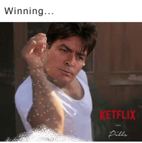 Charlie Sheen is the original Sprinkle Chef 😄😂: Winning  ETFLIX  AND Charlie Sheen is the original Sprinkle Chef 😄😂