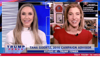 Politics, Record, and Text: WINNING  TRUMIPİ TANA GOERTZ, 2016 CAMPAIGN ADVISOR  PEN CE  STUDIO 45-TRUMP TOWER  TEXT TRUMP TO 88022 Despite all the politics in Washington, we continue beating expectations with record JOB and wage growth!