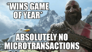 Game, Looking, and Rockstar: WINS GAME  OFYEAR  ABSOLUTELY NC  MICROTRANSACTIONS Looking at you Rockstar