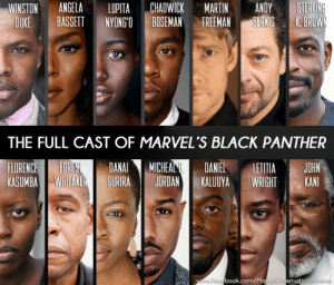 "usernamegameon100:  lastoneout:  venivicivetinari:  wisdomandlogicareking:  jhaernyl:  gallusrostromegalus:  amarvelfangirlthings: The full confirmed cast of BLACK PANTHER YEEEEEESSSSSSYEEEEEEEEEEESSSSSSSS AAAAAAAAAAAAAAAAAAAAAAAHHHHH I AM MUCH EXCITE  WHAT AN AMAZING CAST!THIS IS GOING TO BE AN INCREDIBLE MOVIE!!!  How is this an amazing cast? There are literally only two actors out of this entire cast that are actually great actors, I have never even heard of the rest of these people. I feel like you are only saying ""Its an amazing cast"" Because there are so few white people.  Angela Basset: Academy Award nominee and Golden Globe winner, with enough award nominations/wins to necessitate her own wikipedia page for awards alone. Lupita Nyong'o: Academy Award winner.Chadwick Boseman: Joseph Jefferson Award nominee; already showed his stripes as Black Panther in Captain America: Civil War.Sterling K. Brown: Emmy Award Winner for The People Vs. OJ Simpson and actor in the Golden Globe nominated television show This Is UsFlorence Kasumba: Already had a bit part in Captain America: Civil War; was praised by many critics for her one scene being a scene-stealerForest Whitaker:   Academy Award for Best ActorAfrican-American Film Critics Association Award for Best ActorBAFTA Award for Best Actor in a Leading RoleBET Award for Best ActorBlack Reel Award for Best ActorBoston Society of Film Critics Award for Best ActorBroadcast Film Critics Association Award for Best ActorChicago Film Critics Association Award for Best ActorDallas–Fort Worth Film Critics Association Award for Best ActorFlorida Film Critics Circle Award for Best ActorGolden Globe Award for Best Actor in a Motion Picture – DramaHollywood Film Award for Actor of the YearKansas City Film Critics Circle Award for Best ActorLas Vegas Film Critics Society Award for Best ActorLondon Film Critics' Circle Award for Actor of the YearLos Angeles Film Critics Association Award for Best ActorNAACP Image Award for Outstanding Actor in a Motion PictureNational Board of Review Award for Best ActorNational Society of Film Critics Award for Best ActorNew York Film Critics Circle Award for Best ActorOnline Film Critics Society Award for Best ActorPhoenix Film Critics Society Award for Best ActorSatellite Award for Best Actor – Motion PictureScreen Actors Guild Award for Outstanding Performance by a Male Actor in a Leading RoleSoutheastern Film Critics Association Award for Best ActorVancouver Film Critics Circle Award for Best ActorWashington D.C. Area Film Critics Association for Best ActorNominated – BIFA Award for Best Performance by an Actor in a British Independent FilmNominated – Toronto Film Critics Association Award for Best Actor2nd Place – Awards Circuit Community Award for Best Actor in a Leading Role  ^ that's all from a single movie.Danai Gurira: Tony-award winning writer, plays Michonne on The Walking Dead, one of the most popular series out there todayMichael J. Jordan: Featured actor in popular shows like Friday Night Lights, The Wire, and Parenthood in addition to frequent appearances on film.Daniel Kaluuya: The star of Get Out, which currently boasts a 99% rating on Rotten Tomatoes, and has been in the press pretty much constantly upon release.  He was also featured in an episode of the acclaimed series Black Mirror. John Kani: An actor, playwright and director; while he hasn't had as much work in America, he's prolific enough to have a theatre in Newtown Johannesberg named after him.Winston Duke and Letitia Wright have fewer credits to their names (the former has a consistent role in the well-received Person of Interest; the latter has been cast in Black Panther and Ready Player One in what is hopefully the beginnings of a bright career), but I don't mean to belittle their successes by leaving them out, and those who aren't as well known SHOULD be given a chance by big franchises.  Lesser known names tend to get big after starring in Marvel movies.  I sure as hell didn't know who Chris Evans or Chris Hemsworth were prior to their flagship titles.But even putting aside how important it is that this film is led by black creators, just because you don't know these people doesn't mean that they're not critically acclaimed in their field, who haven't put in the work.  They have, and they've been recognized for it.  Consider checking out some of their work before you decide whether or not only two of them are great actors.    Excuse me, police? I'd like to report a murder  I love receipts : WINSTON ANGELA LUPITA CHADWICK MARTIN ANDY STERL  DUKE BASSETT NYONG'O BOSEMAN FREEMAN SERKIS K.BROW  THE FULL CAST OF MARVEL'S BLACK PANTHER  FLORENCE!■FOREST DANA!! MICHEAL DANIEL LETITIA JOHN  KASUMBAİ WHITAKER BURIRA I JORDAN EKALUUYA 