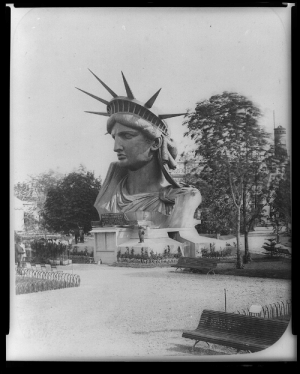 history-museum:  The Statue of Liberty's head, on exhibit at the Paris Exposition of 1878.: WINTAIDIPANE history-museum:  The Statue of Liberty's head, on exhibit at the Paris Exposition of 1878.