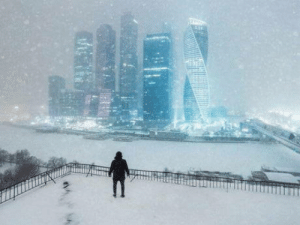 Winter in Moscow, Russia: Winter in Moscow, Russia
