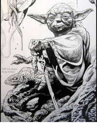 Memes, Yoda, and 🤖: WIP ink detail  Andy Brase Swamp Dweller (TBT) WIP ink detail: A more clear WIP detail Anyone going to the new Star Wars? andybrase inks inking penandink wip scifiart characterart creature inkart comicart starwars marvelart yoda maytheforcebewithyou scifi starwarsart illustration inkdrawing conceptartist