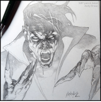 Memes, Doodle, and Dracula: WIP pencil detail  Andy Brase The Living Vampire I've been under the weather the last week, due to a pretty brutal cold. Here's the MORBIUS sketch I did recently. andybrase pencildrawing pencils sketch fantasyart comicart doodle characterart originalart vampire sketching graphite linework marvelart morbius dracula creature fantasy artist