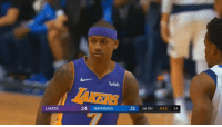 Cavs, Los Angeles Lakers, and Memes: wish  24 MAVERICKS 21t Qtr 4:12 1  LAKERS Isaiah Thomas knocks down a three for his first points as a Laker.  After 10 minutes, he has 13 points on 4-of-6 (3-5 3PT) shooting & 3 assists!   With the Cavs, he had 3 games with 3 threes & 1 game with 4. https://t.co/TFnS1pHyIi