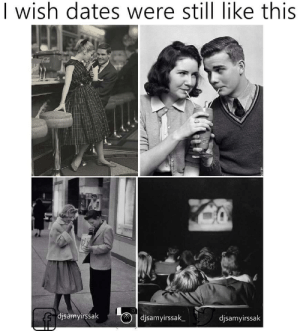 Cute, How Many Times, and Tumblr: | wish dates were still like this  djsamyirssak  djsamyirssak  djsamyirssak magnolia-noire:  emotionlessmotions:  Because this is cute  literally nothing is stopping you from putting on a petticoat and getting a damn milkshake how many times do we as a society have to go though this   maybe they're mad because theatres and restaurants aren't segregated anymore