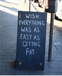 Memes, 🤖, and Tng: WISH  EVERYTHING  WAS AS  EASY AS  GET TNG  FAT if only.