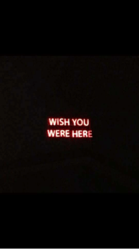 Wish You Were Here, You, and Were: WISH YOU  WERE HERE